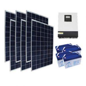 Yazlık Ev Elektrik Üretimi - Off Grid 1,5kW Yazlık Paketi