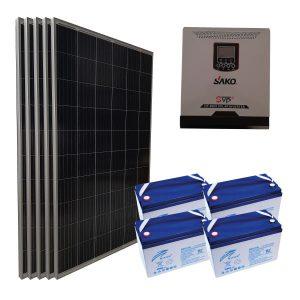 Yazlık Ev Elektrik Üretimi - 1,6kW Yazlık Paketi