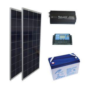Solar Aydınlatma Sistemi - 350W Kuruluma Hazır Paket