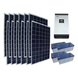 Off Grid 3 kW Ev Kullanımı Paketi - Ev İçin Güneş Paneli