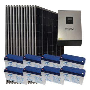 Off Grid 4 kW Ev Kullanımı Paketi - Ev İçin Güneş Paneli