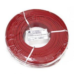 Çift Kat İzole 6mm Solar Kablo – 20 metre (10m Kırmızı – 10m Siyah)
