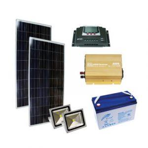 Solar Aydınlatma Sistemi - Off Grid 0,3 kW Kuruluma Hazır Paket