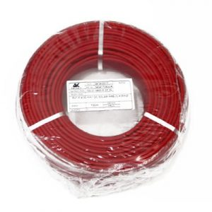 Çift Kat İzole 4mm Solar Kablo - 20 metre (10m Kırmızı - 10m Siyah)