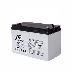 Ritar 100 Ah Kurşun Karbon Jel Akü - DC12-100C - Derin Döngü Karbon Akü